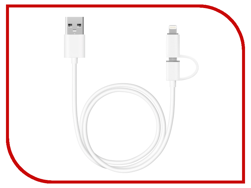 Аксессуар Deppa 72203 White c адаптером lightning для iPhone/iPad/iPod<br>