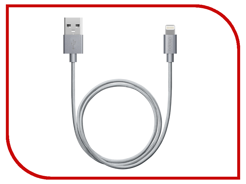 Аксессуар Deppa USB - 8-pin 1.2m Graphite 72189