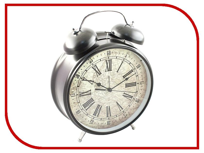 Часы настольные Эврика Будильник Гигант Black 96597