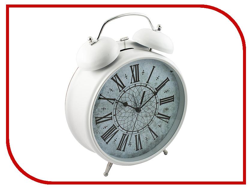 Часы настольные Эврика Будильник Гигант White 96599