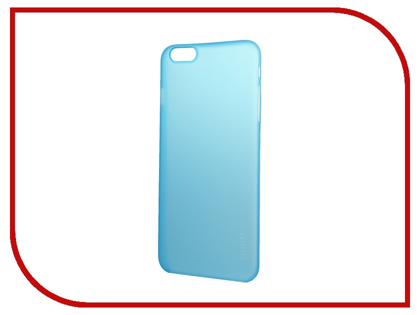 Аксессуар Чехол-накладка HOCO Ultra Thin Series для iPhone 6 Plus Blue<br>