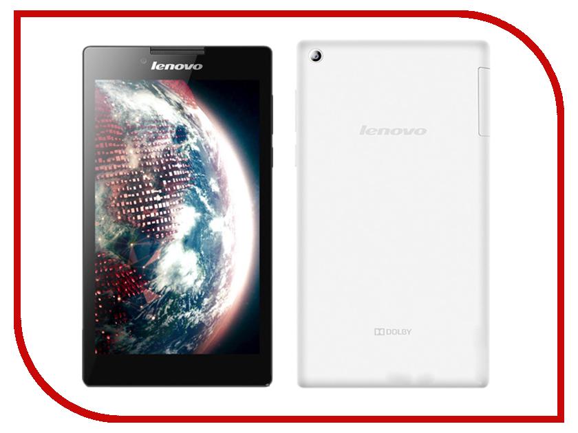 Планшет Lenovo TAB 2 A7-30DC 8Gb White 59444616 (MediaTek MT8382 1.3 GHz/1024Mb/8Gb/Wi-Fi/3G/GPS/Cam/7.0/1024x600/Android)<br>