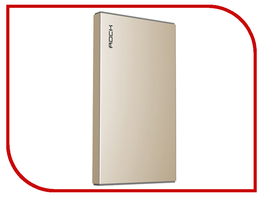 Аккумулятор ROCK Stone Power Bank 5000 mAh Golden RMP0302<br>