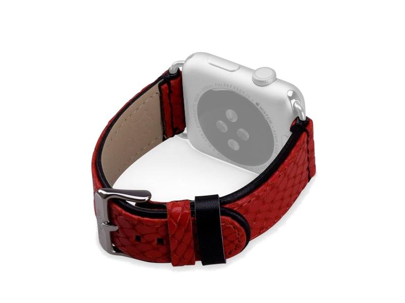 Аксессуар Ремешок The Core Leather Band для APPLE Watch 42mm AWST42L Red