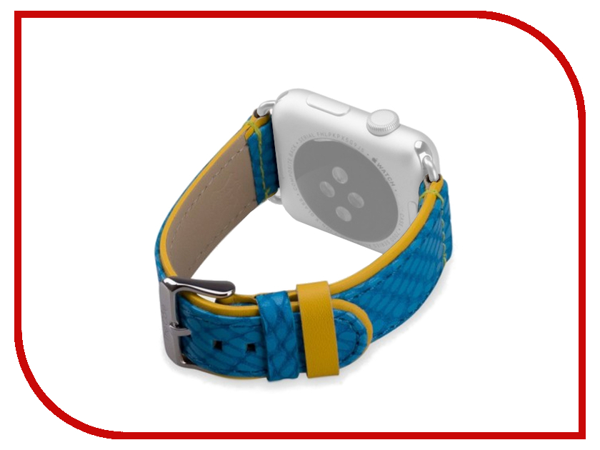 Аксессуар Ремешок APPLE Watch 42mm The Core Leather Band Blue AWST42L<br>