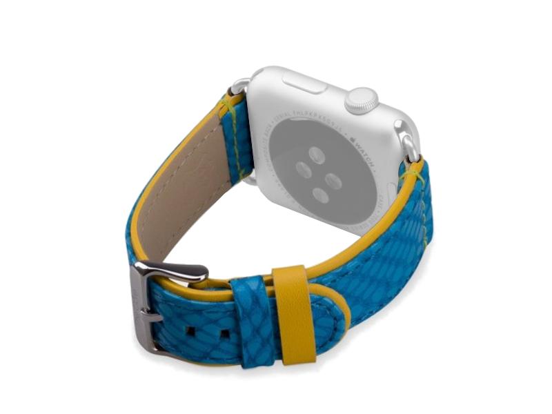 Аксессуар Ремешок The Core Leather Band для APPLE Watch 42mm AWST42L Blue