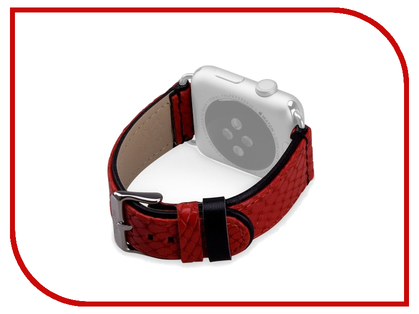 Аксессуар Ремешок APPLE Watch 38mm The Core Leather Band Red AWST38L
