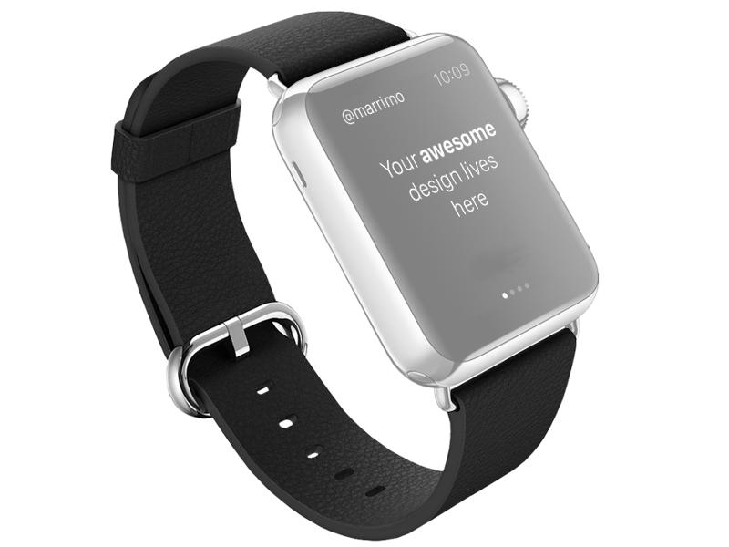 Аксессуар Ремешок ROCK Genuine Leather Watchband для APPLE Watch 42mm Black