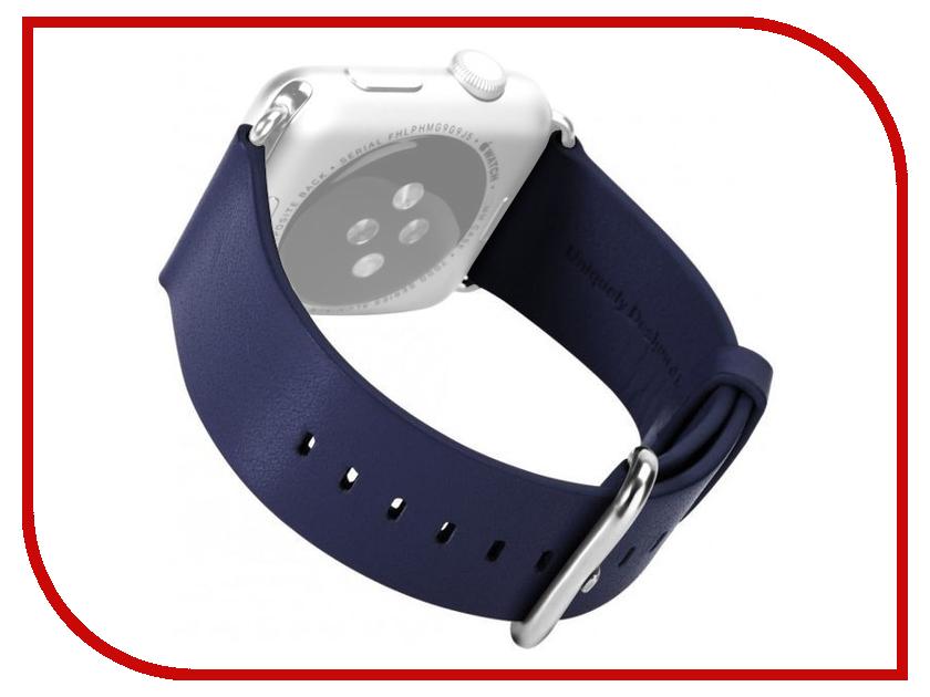 Аксессуар Ремешок APPLE Watch 38mm ROCK Genuine Leather Watchband Dark-Blue