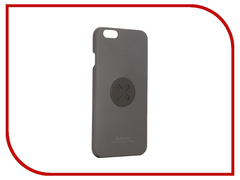 Аксессуар Чехол-накладка iHave X-series Magnetic для iPhone 6 iz0102 Grey<br>