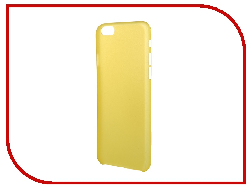 Аксессуар Чехол Platinum для iPhone 6 0.3mm Yellow Matte 4103931<br>
