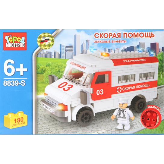 Конструктор Город Мастеров Скорая Помощь BB-8839-RS<br>
