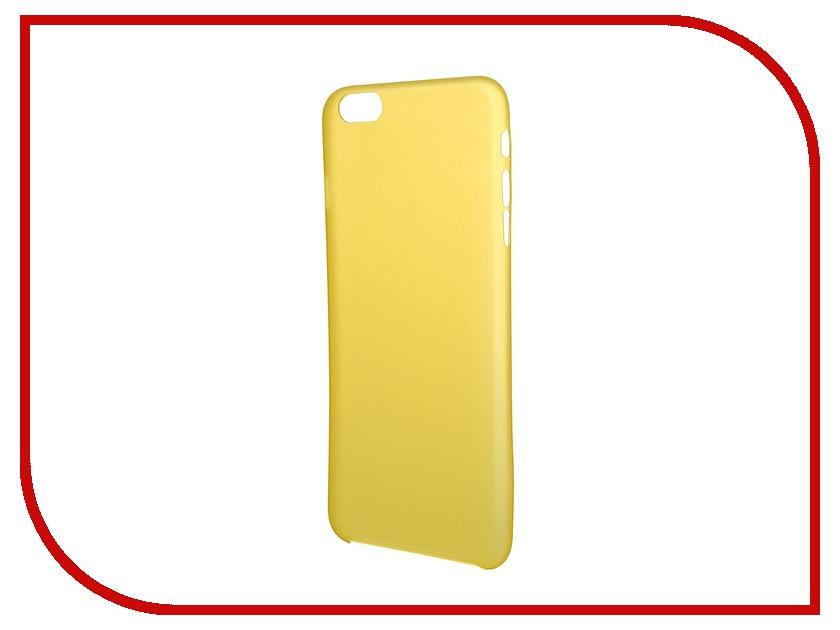Аксессуар Чехол Platinum для iPhone 6 Plus 0.3mm Yellow Matte 4103949<br>