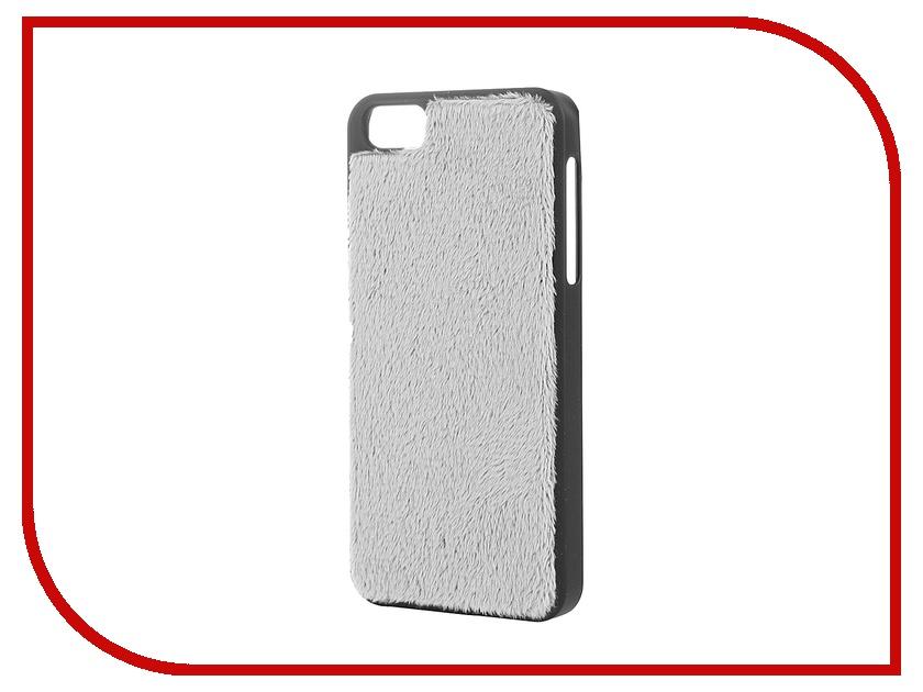 Аксессуар Чехол Platinum для iPhone 5 пушистый Grey<br>