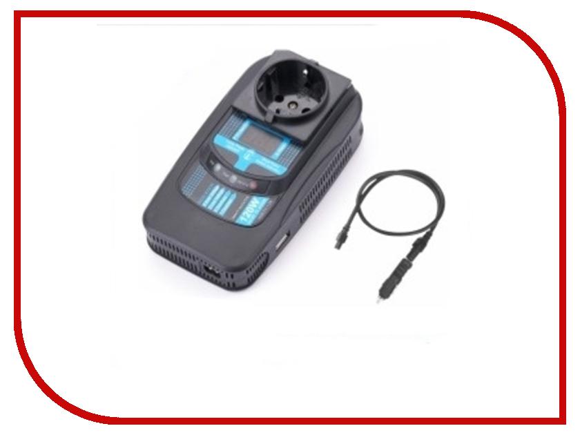 Автоинвертор PowerAce PID120 Digital Display +USB с 12В на 220В автоинвертор relato ps1000 12v 1000вт с 12в на 220в
