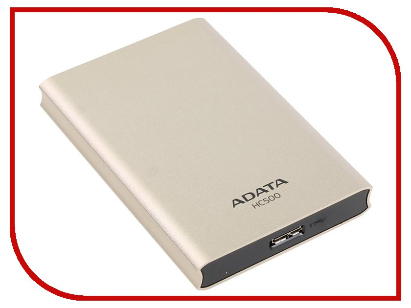 Жесткий диск A-Data Choice HC500 1Tb USB 3.0 Gold AHC500-1TU3-CGD