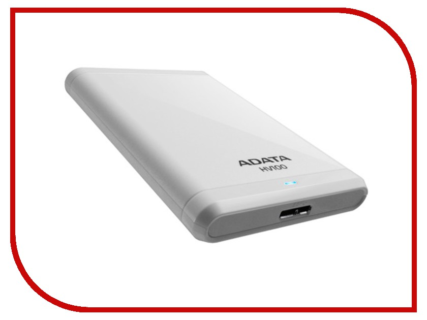 Жесткий диск A-Data Classic HV100 1Tb USB 3.0 White AHV100-1TU3-CWH hdd a data hv100 1tb white