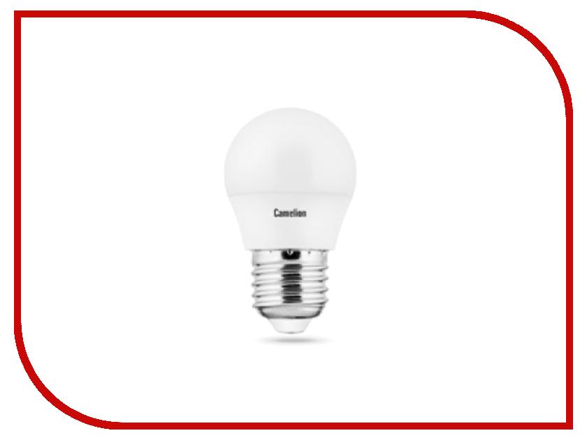 Лампочка Camelion G45 5W 220V E27 3000K 390 Lm LED5-G45/830/E27 лампочка camelion g4 2 5w 12v g4 3000k 190 lm led2 5 jc sl 830 g4 12301
