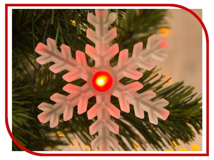 Новогодний сувенир Luazon Снежинка матовая RGB 1077313 украшение luazon снежинка blue 2314974