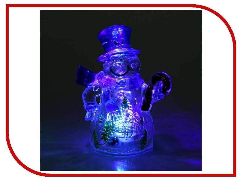 Новогодний сувенир Luazon Снеговик и леденец RGB 1077334 гирлянда luazon дождь 2m 6m multicolor 671678