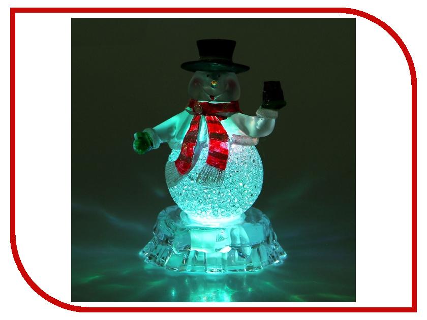 Новогодний сувенир Luazon Снеговик на льдине с подарком RGB 1077359