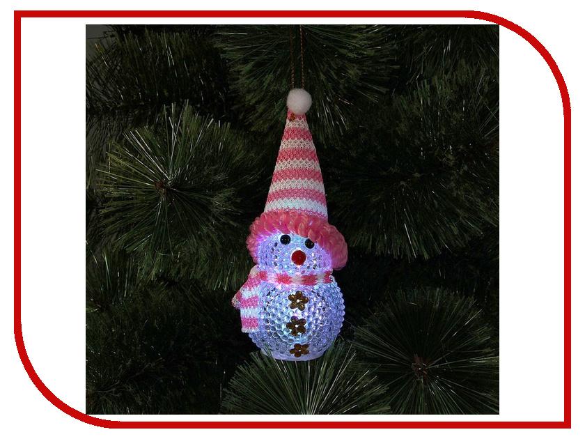 Новогодний сувенир Luazon Снеговик Pink 1077485