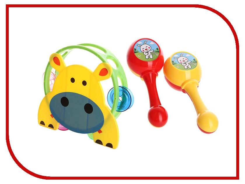 Детский музыкальный инструмент Играем вместе Y88-3C - бубен+маракасы B1258878