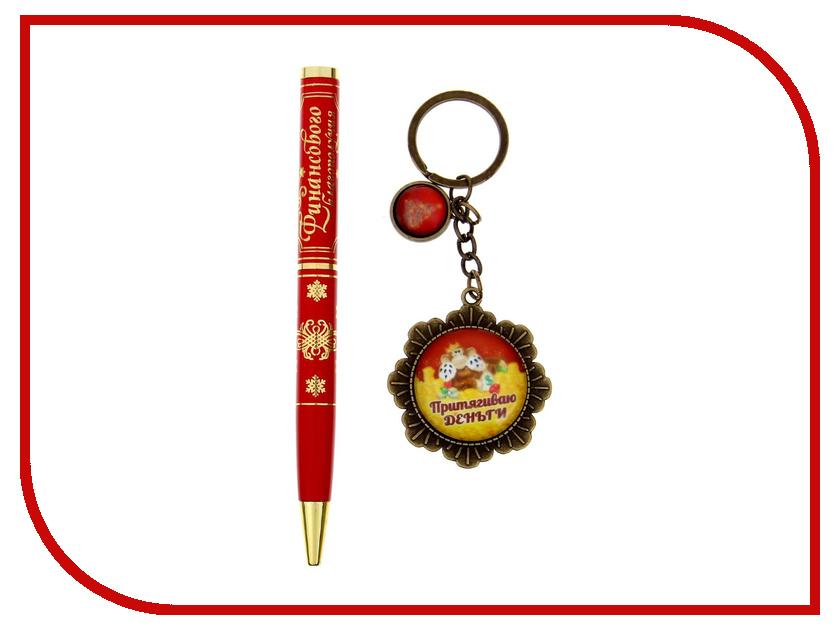 Новогодний сувенир СИМА-ЛЕНД Финансового благополучия ручка + брелок 1117804<br>