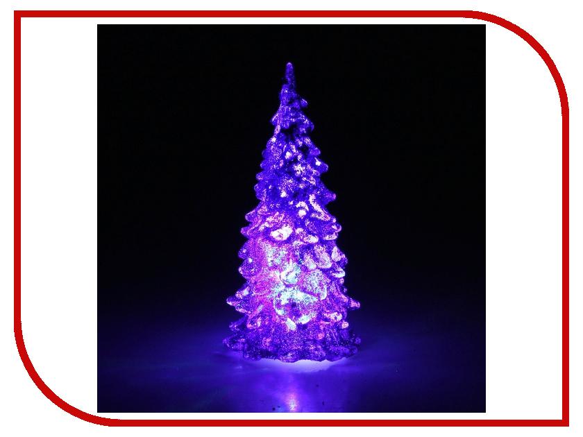 Новогодний сувенир Luazon Мерцающая елочка Violet 602886 гирлянда luazon дождь 2m 6m multicolor 671678