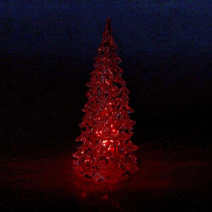 Новогодний сувенир Luazon Мерцающая елочка Red 602884