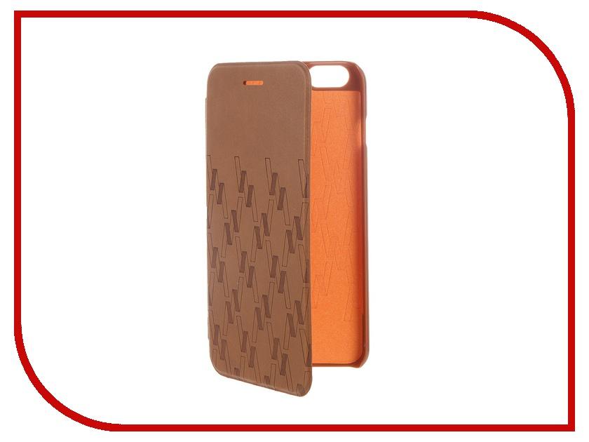 где купить Аксессуар Чехол-книжка MOMAX Elite Case для iPhone 6 Plus FDAPIP6LBD Brown дешево