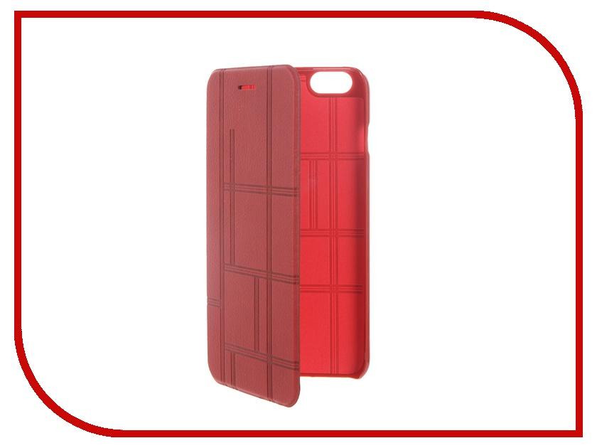 Аксессуар Чехол-книжка MOMAX Elite Case для iPhone 6 Plus FDAPIP6LBD Red<br>