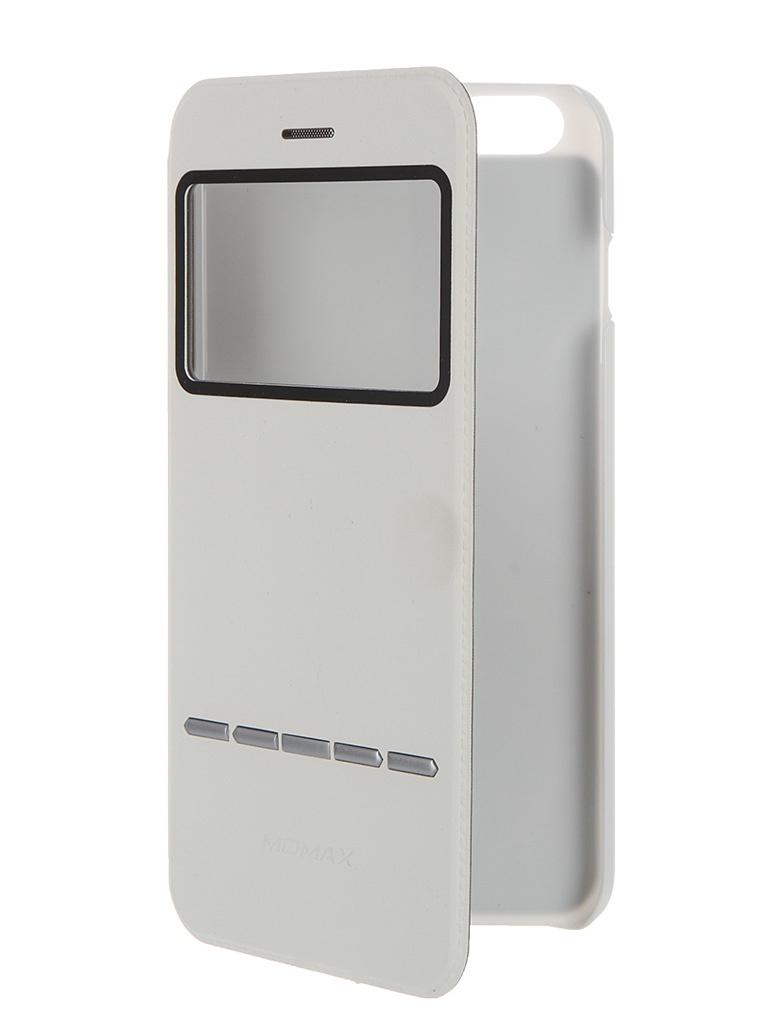 Аксессуар Чехол-книжка MOMAX Flip View для iPhone 6 Plus FVAPIP6L White<br>