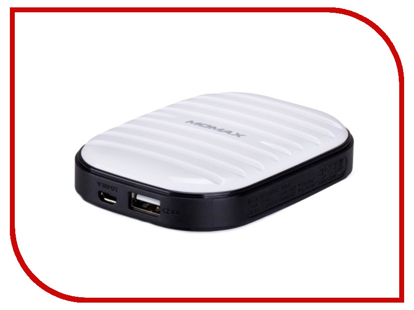 Аккумулятор MOMAX iPower Go mini 7800mAh IP35D White<br>