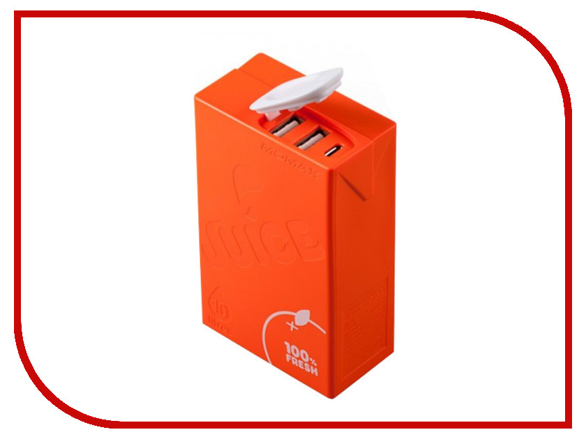 Аккумулятор MOMAX iPower Juice+ 10000mAh IP39 Orange<br>
