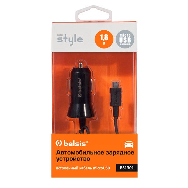 Зарядное устройство Belsis MicroUSB 1800 mA Black BS1301<br>