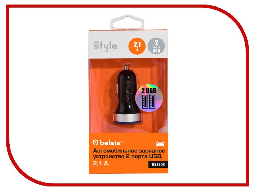 Зарядное устройство Belsis 2xUSB 2100 mA+1000 mA Black BS1303 creative ma 200 red black 51ef0600aa005