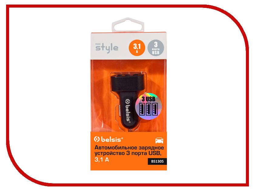 Зарядное устройство Belsis 3xUSB 3100 mA Black BS1305<br>