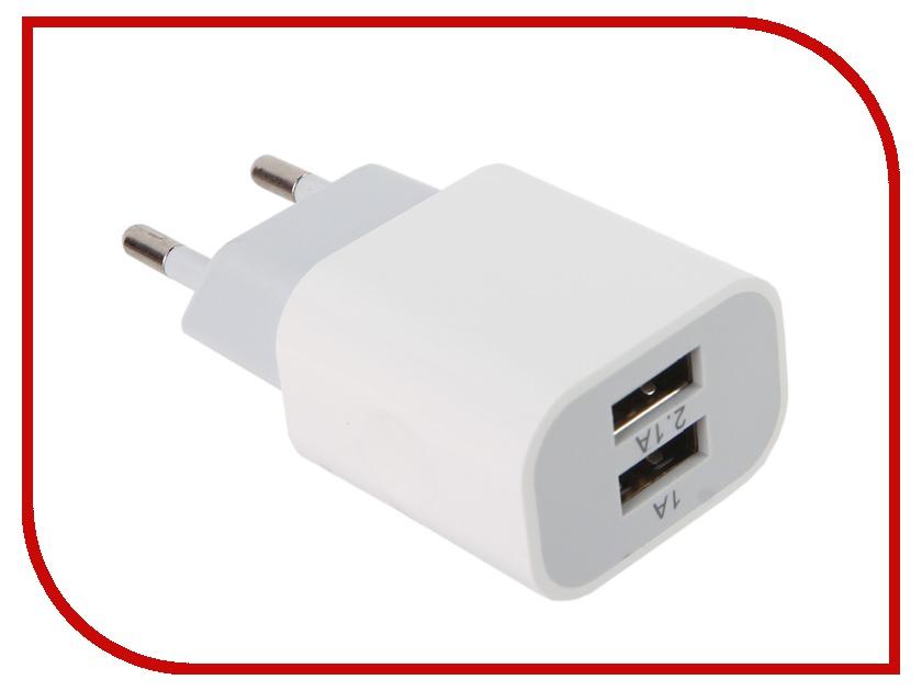 Зарядное устройство Belsis 2xUSB 2100 mA White BS1402 зарядное устройство activ usb 1000 ma black 15682