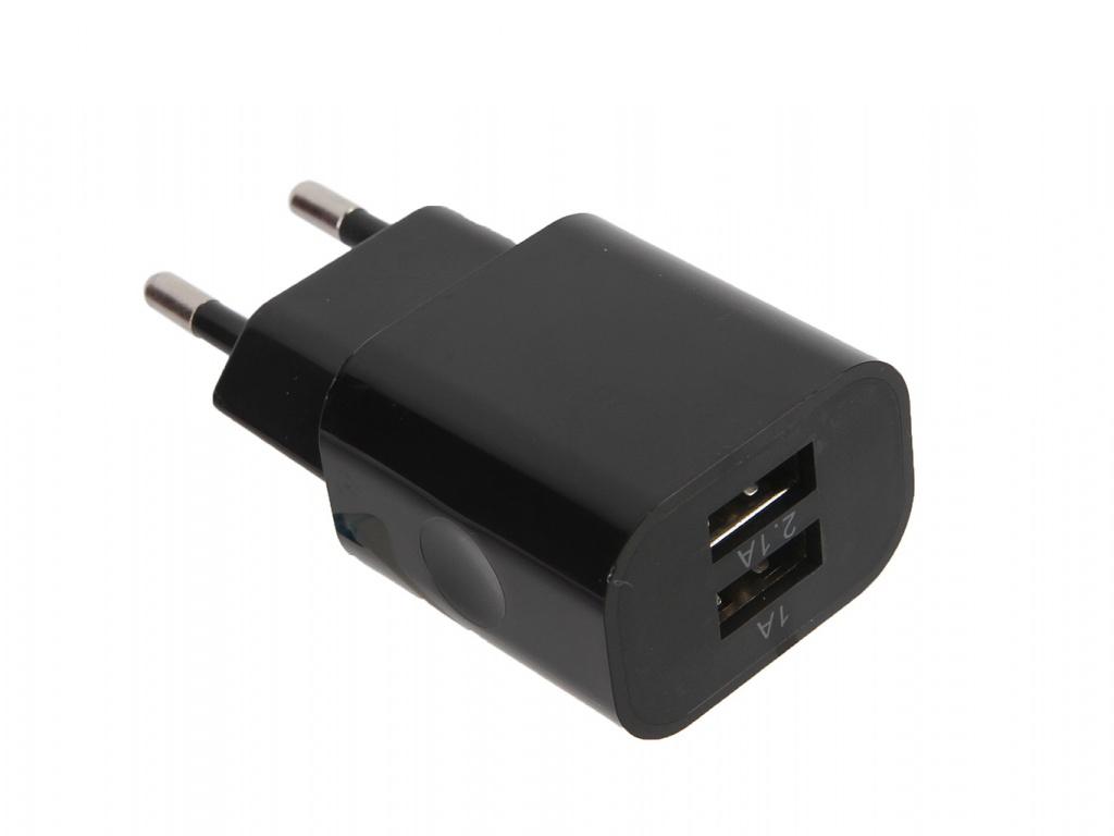 Зарядное устройство Belsis 2xUSB 2100 mA Black BS1401