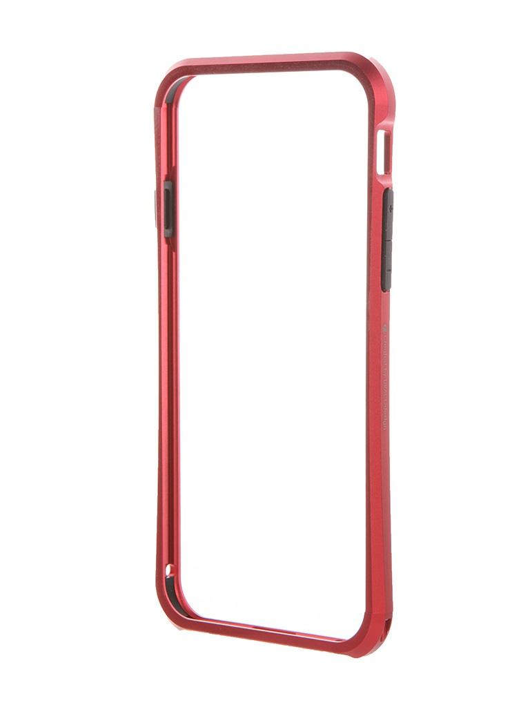 Аксессуар Чехол-бампер DRACO Tigris 6 для iPhone 6 Flare Red TI60A1-RDL<br>