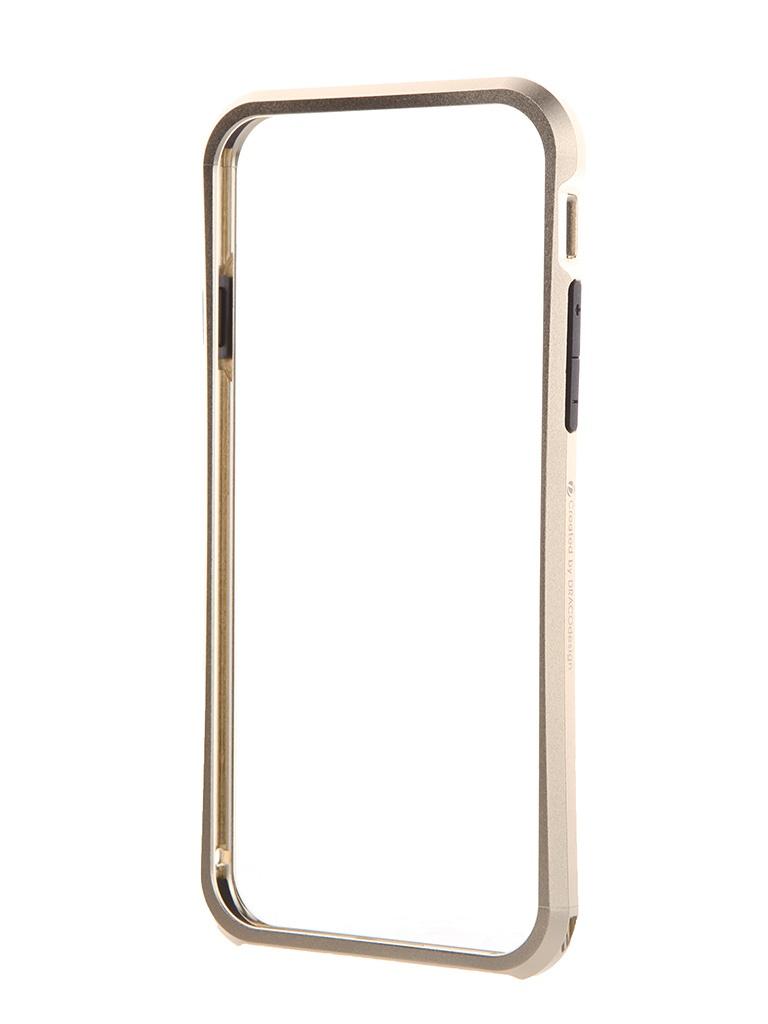 Аксессуар Чехол-бампер DRACO Tigris 6 для iPhone 6 Champagne Gold TI60A1-GDL<br>