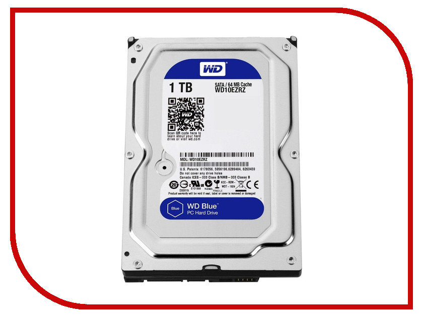 внутренние HDD/SSD WD10EZRZ  Жесткий диск 1Tb - Western Digital WD10EZRZ