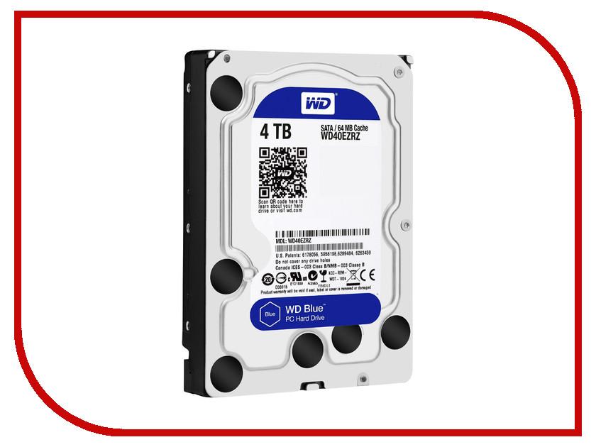 Жесткий диск 4Tb - Western Digital WD40EZRZ жесткий диск 4tb western digital purple wd40purx