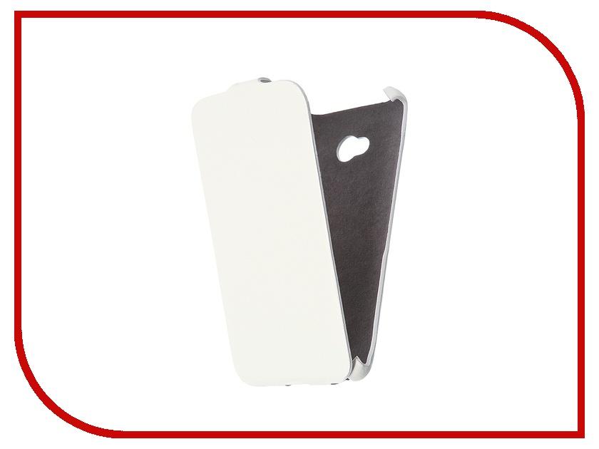 Аксессуар Чехол Cojess for Microsoft Lumia 640 Ultra Slim Экокожа Флотер White<br>