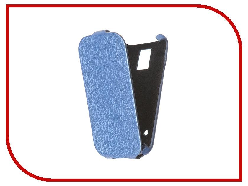 Аксессуар Чехол Samsung Galaxy S5 mini SM-G800F Cojess Ultra Slim Экокожа Флотер Blue