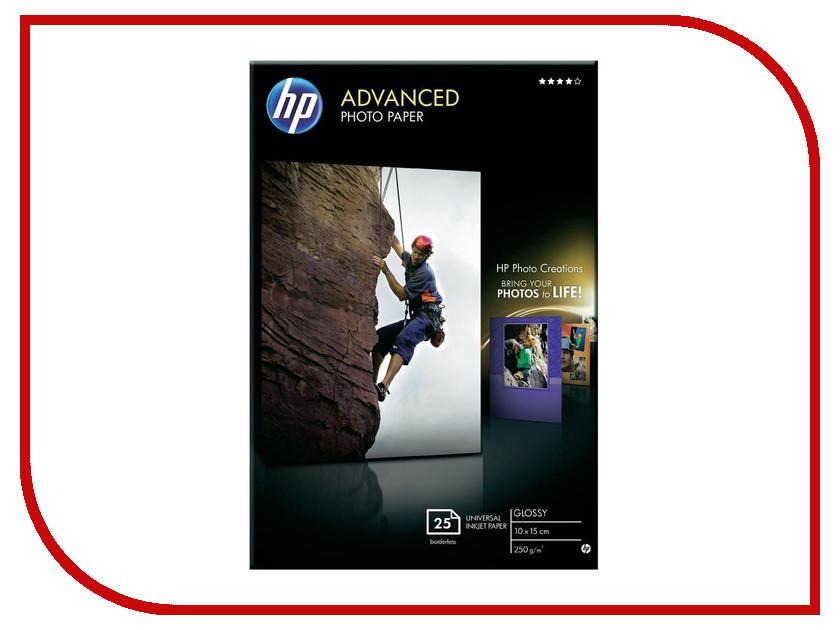 Фотобумага HP Q8691A Глянцевая 250g/m2 A6 25 листов