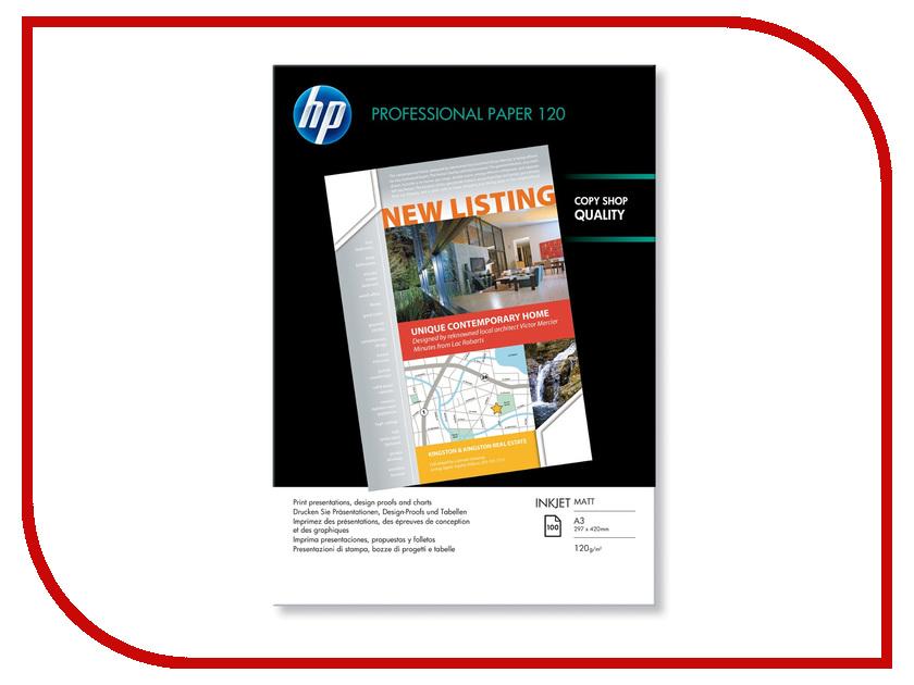 Фотобумага HP Q6594A Двухсторонняя Матовая 120g/m2 A3 100 листов