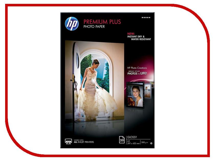 Фотобумага HP Premium Plus CR675A Глянцевая 300g/m2 A3 20 листов<br>