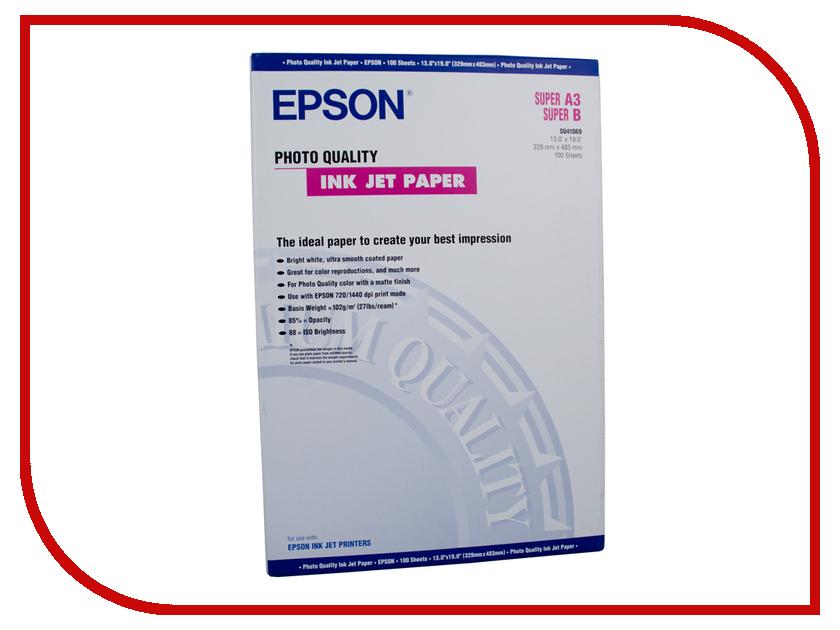 Фотобумага Epson C13S041069 Матовая 102g/m2 A3 100 листов<br>